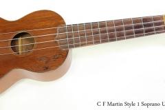 C F Martin Style 1 Soprano Ukulele, 1917   Full Front View