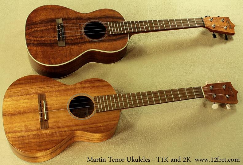 Martin Tenor Ukes, T1K and 2K full fronts