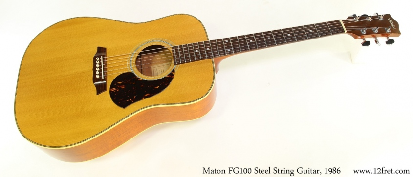 Maton FG100 Steel String Guitar, 1986 Full Front View