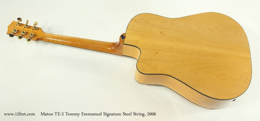 Maton TE-2 Tommy Emmanuel Signature Steel String, 2006 Full Rear View
