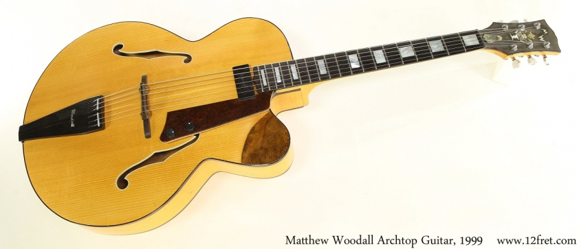 Matthew Woodall Archtop Guitar, 1999 Full Front View