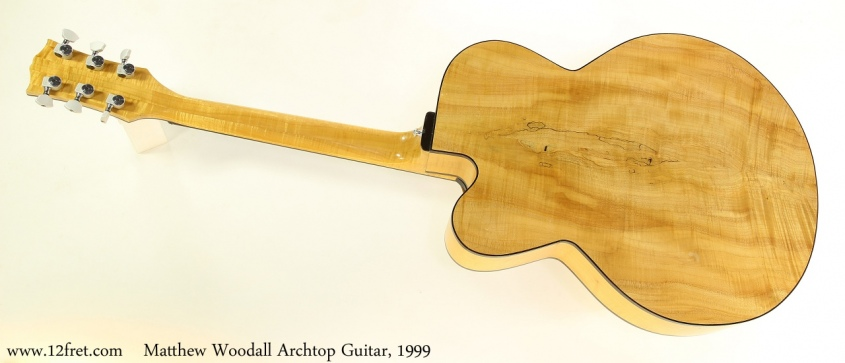 Matthew Woodall Archtop Guitar, 1999 Full Rear View