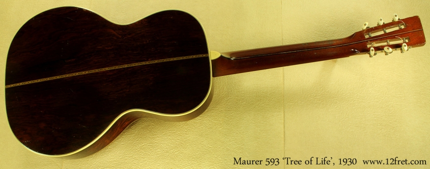 Maurer model 593 Tree of Life 1930 full rear