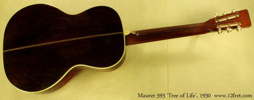 Maurer model 593 Tree of Life 1930 full rear