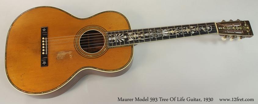 Maurer Model 593 Tree Of Life Guitar, 1930 Full Front View