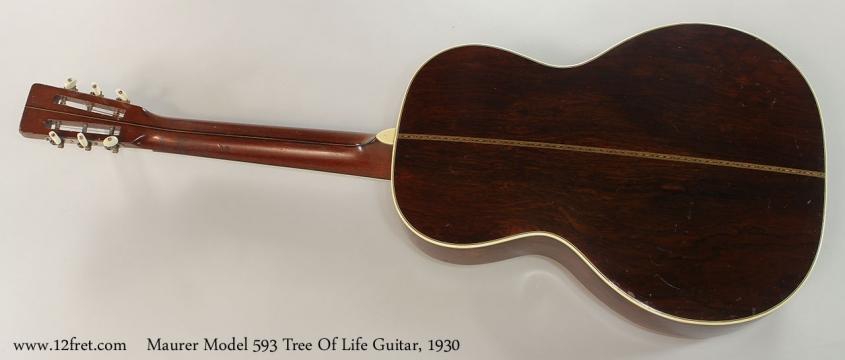 Maurer Model 593 Tree Of Life Guitar, 1930 Full Rear View