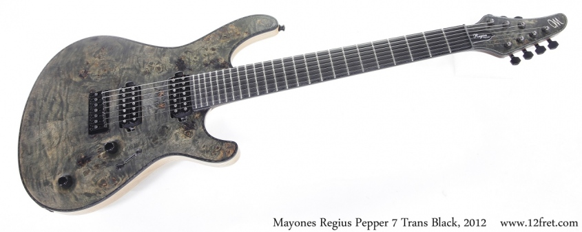 Mayones Regius Pepper 7 Trans Black, 2012 Full Front View