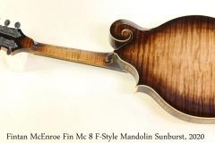Fintan McEnroe Fin Mc 8 F-Style Mandolin Sunburst, 2020 Full Rear View