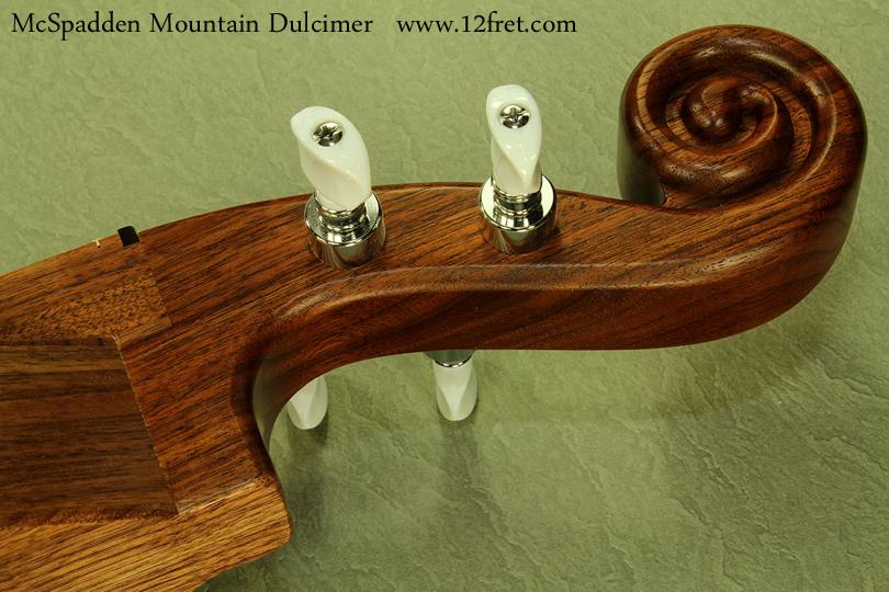 McSpadden Mountain Dulcimer Walnut scroll