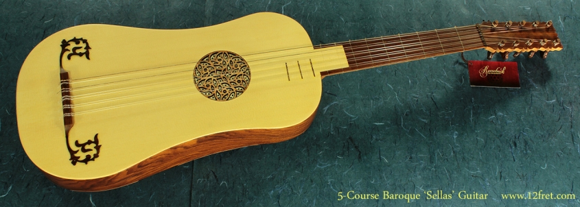 5-Course Baroque Guitar full front view