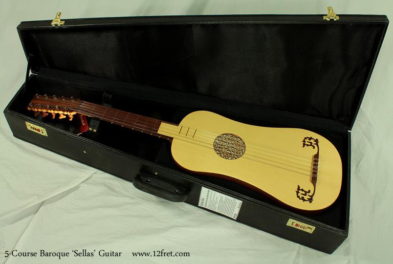 5-Course Baroque Guitar case open