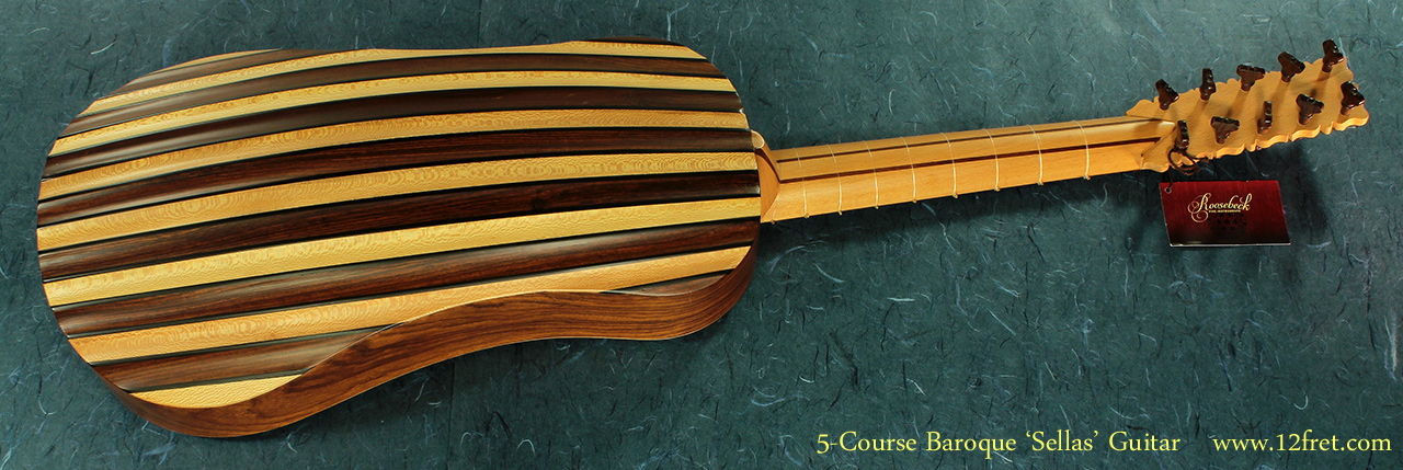 5-Course Baroque Guitar full rear view