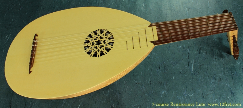 7-Course Renaissance Lute full front view