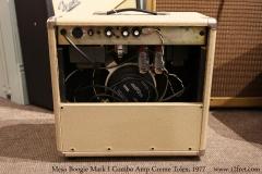 Mesa Boogie Mark I Combo Amp Creme Tolex, 1977 Full Rear View