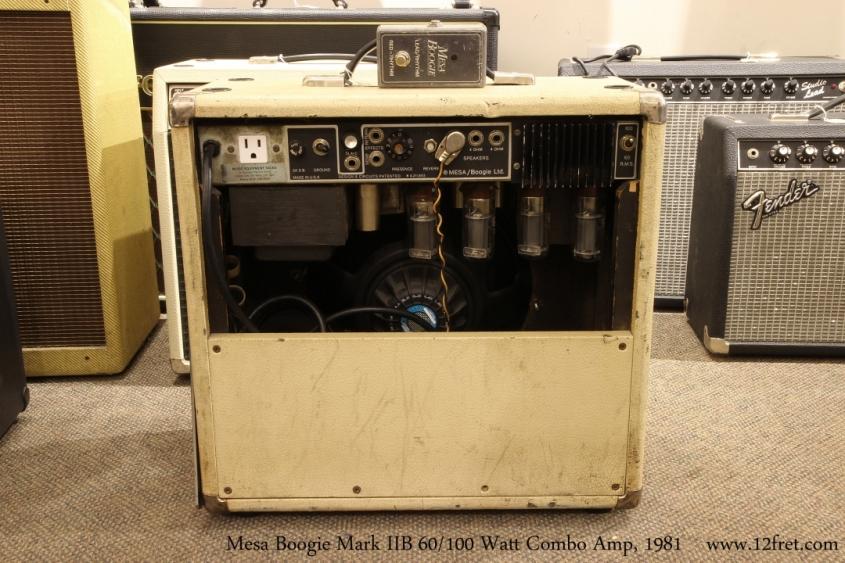 Mesa Boogie Mark IIB 60/100 Watt Combo Amp, 1981   Full Rear View