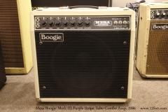 Mesa Boogie Mark III Purple Stripe Tube Combo Amp, 1986   Full Front View