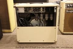 Mesa Boogie Mark III Purple Stripe Tube Combo Amp, 1986   Full Rear View