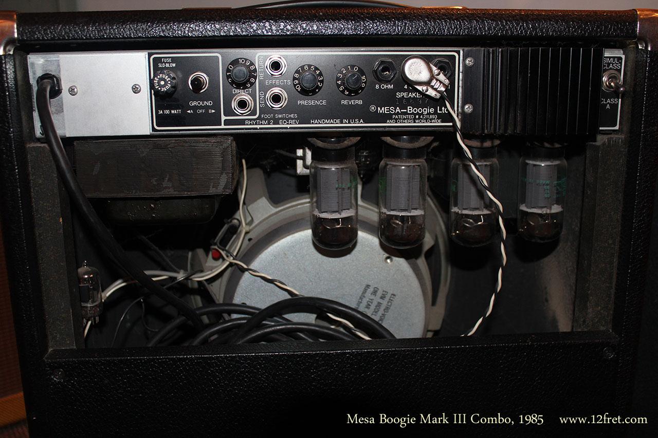 Mesa Boogie Mark III Combo1985  back panel