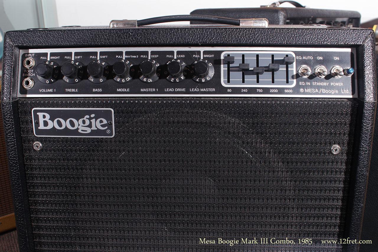 Mesa Boogie Mark III Combo1985 front panel