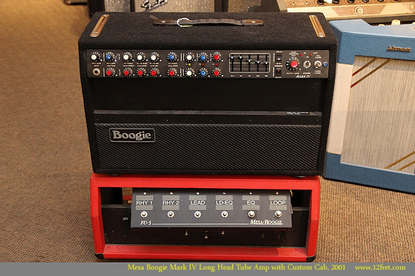 Mesa Boogie Mark IV Long Head Tube Amp with Custom Cab, 2001 Full Front View
