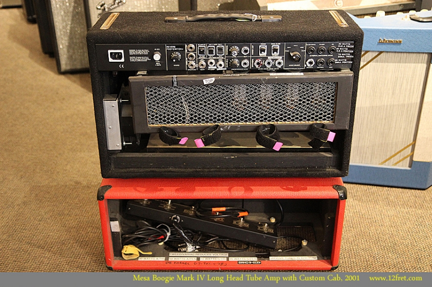 Mesa Boogie Mark IV Long Head Tube Amp with Custom Cab, 2001 Full Rear View