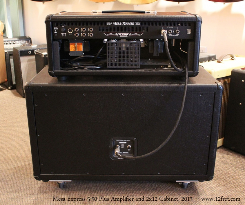 Mesa Express 5:50 Plus Amplifier and 2x12 Cabinet, 2013 Full Rear View