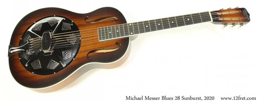 Michael Messer Blues 28 Sunburst, 2020 Full Front View