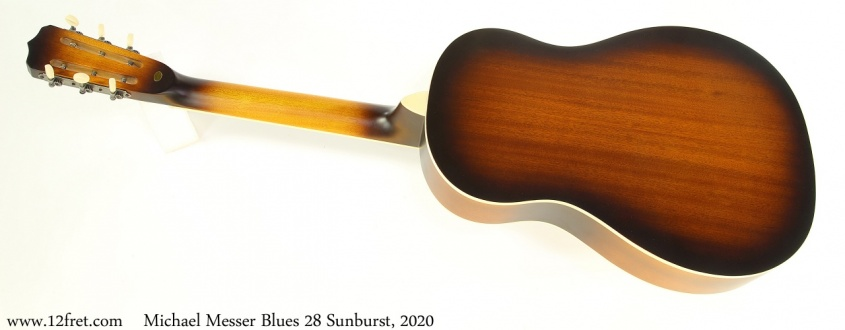 Michael Messer Blues 28 Sunburst, 2020 Full Rear View