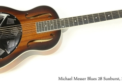 Michael Messer Blues 28 Sunburst, 2020 Full Front View