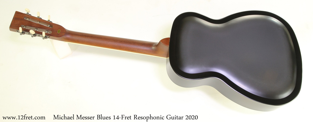 Michael Messer Blues 14-Fret Resophonic Guitar 2020 Full Rear View