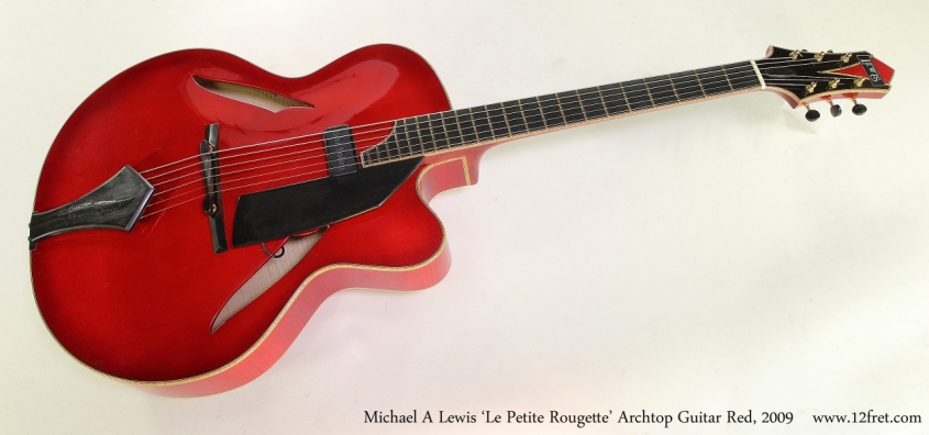 Michael A Lewis 'Le Petite Rougette' Archtop Guitar Red, 2009 Full Front View