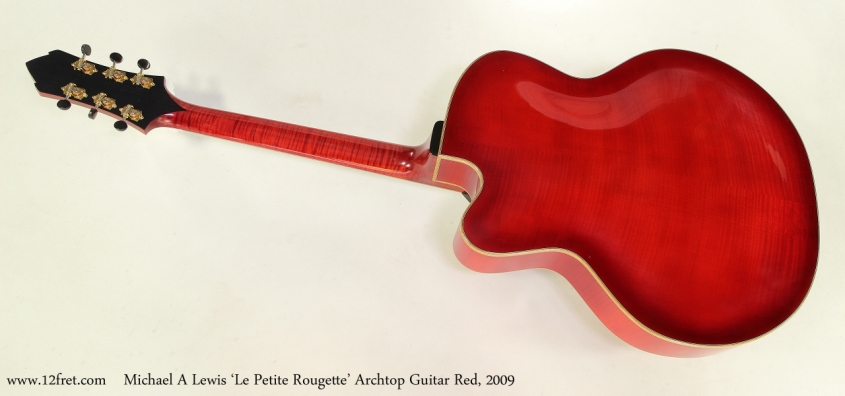 Michael A Lewis 'Le Petite Rougette' Archtop Guitar Red, 2009 Full Rear View