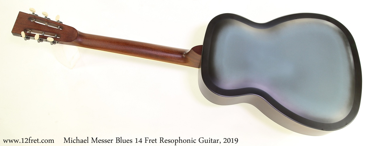 Michael Messer Blues 14 Fret Resophonic Guitar, 2019 Full Rear View