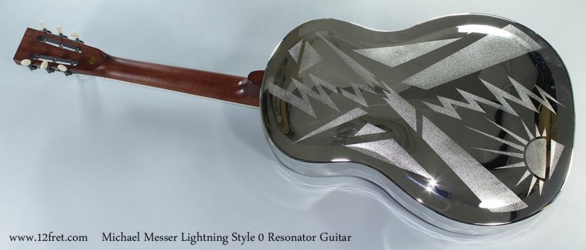 Michael Messer Lightning Style 0 Resonator Guitar Full Rear View