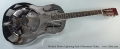 Michael Messer Lightning Style 0 Resonator Guitar Full Front View