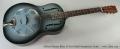 Michael Messer Blues 12-Fret Model Resophonic Guitar Full Front VIew