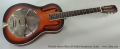 Michael Messer Blues 28 Model Resophonic Guitar Full Front View