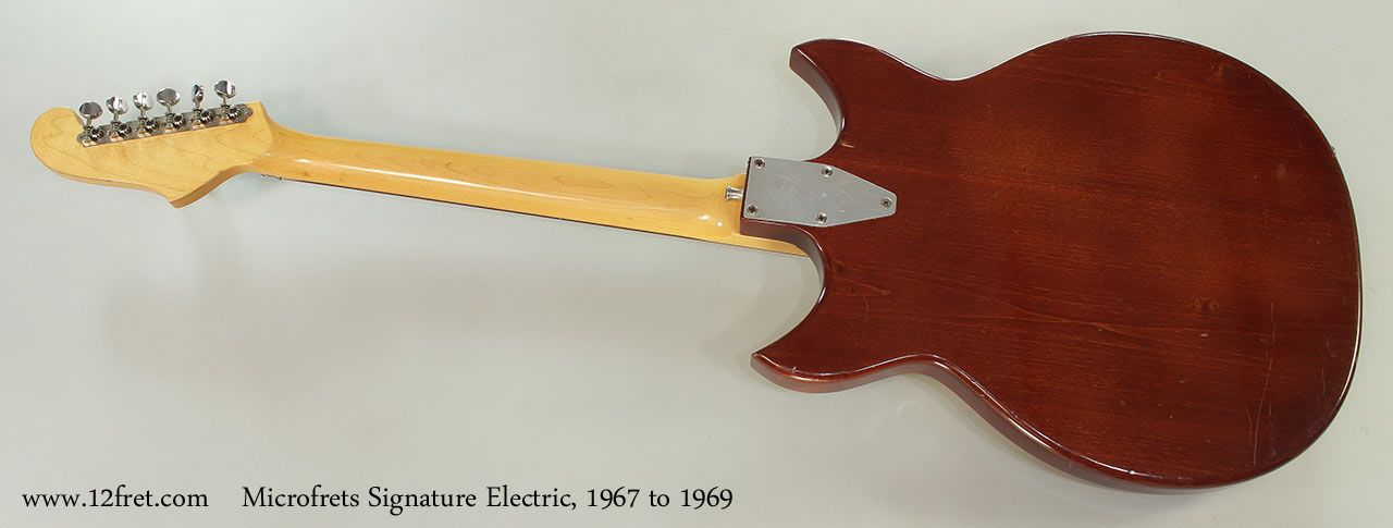 Microfrets Signature Electric, 1967 to 1969 Full Rear View