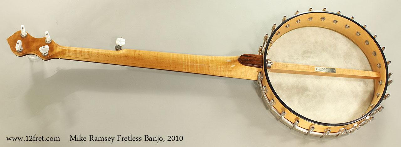 Mike Ramsey Fretless Banjo, 2010 Full Rear View