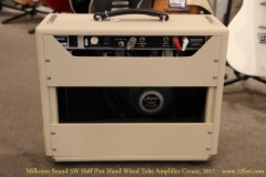 Milkman Sound 5W Half Pint Hand Wired Tube Amplifier Cream, 2017   Full Rear View
