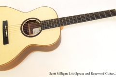 Scott Milligan L-00 Spruce and Rosewood Guitar, 2018   Full Front View