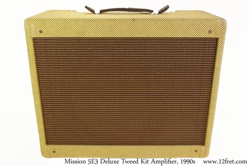 Mission 5E3 Deluxe Tweed Kit Amplifier, 1990s Full Front View