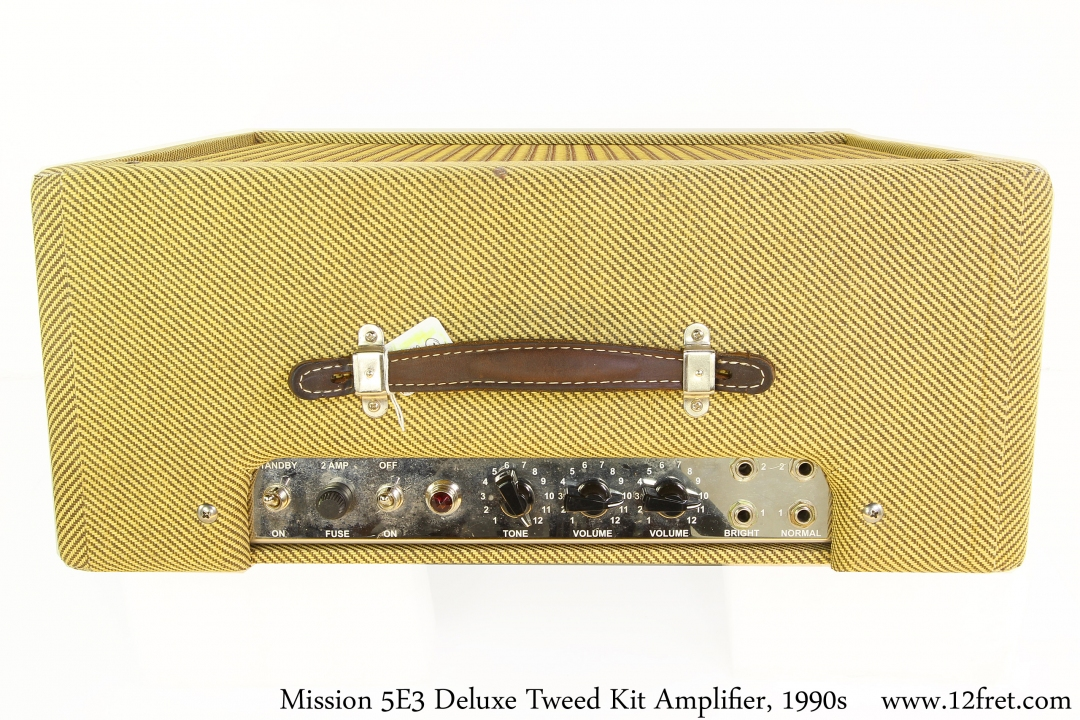 Mission 5E3 Deluxe Tweed Kit Amplifier, 1990s Full Top View