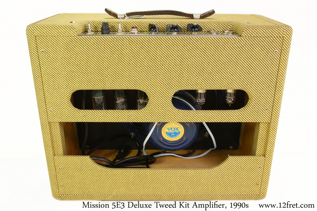 Mission 5E3 Deluxe Tweed Kit Amplifier, 1990s Full Rear View