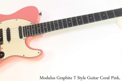 Modulus Graphite T Style Guitar Coral Pink, 1987 Full Front View