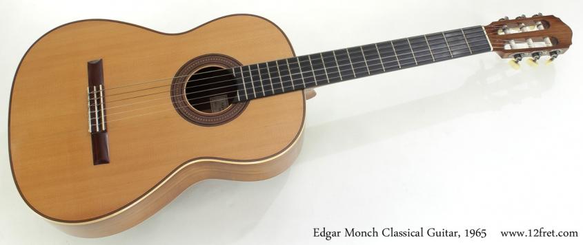 Edgar Monch Classical Guitar, 1965 full front view