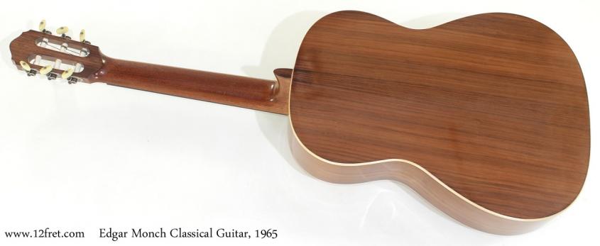 Edgar Monch Classical Guitar, 1965 full rear view