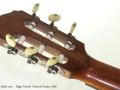 Edgar Monch Classical Guitar, 1965 head rear