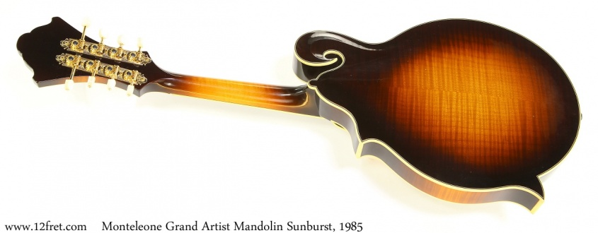 Monteleone Grand Artist Mandolin Sunburst, 1985 Full Rear View