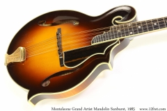 Monteleone Grand Artist Mandolin Sunburst, 1985 Top View